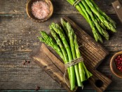 Asparagus with Raspberry Yogurt Sauce Recipe